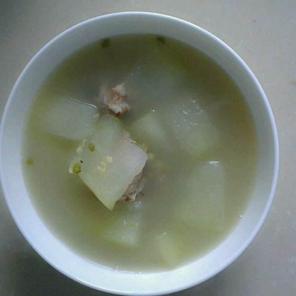 营养的绿豆冬瓜排骨汤