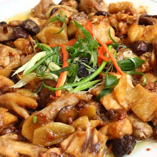 好吃不腻的香菇炖鸡