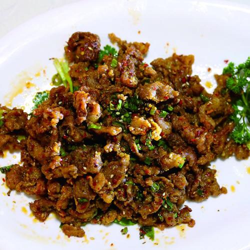 家常菜葱爆羊肉