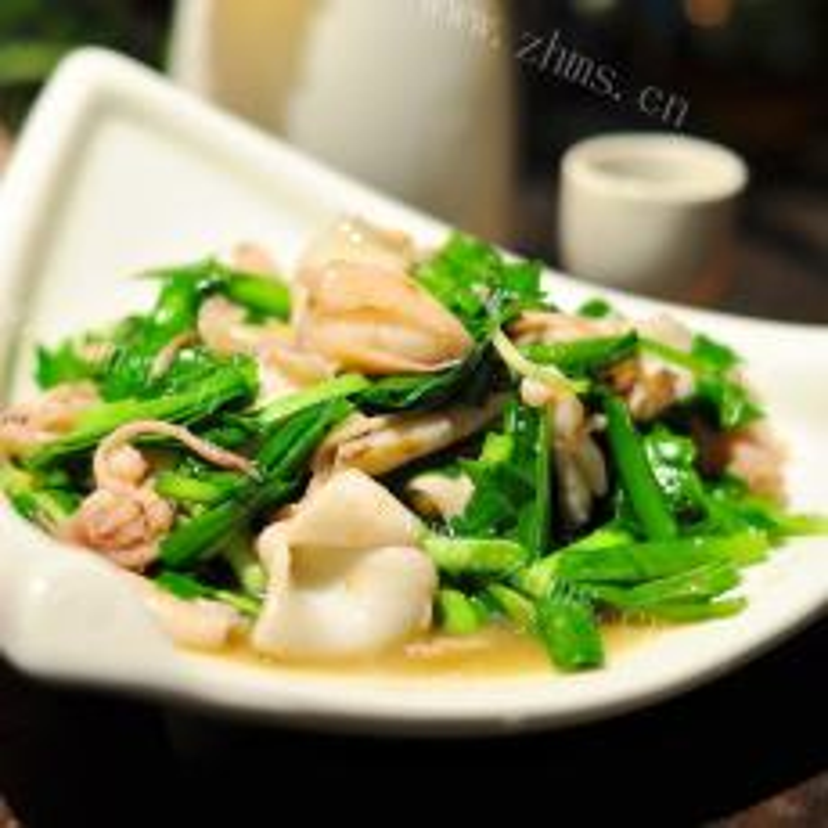 简单的淡菜炒韭菜