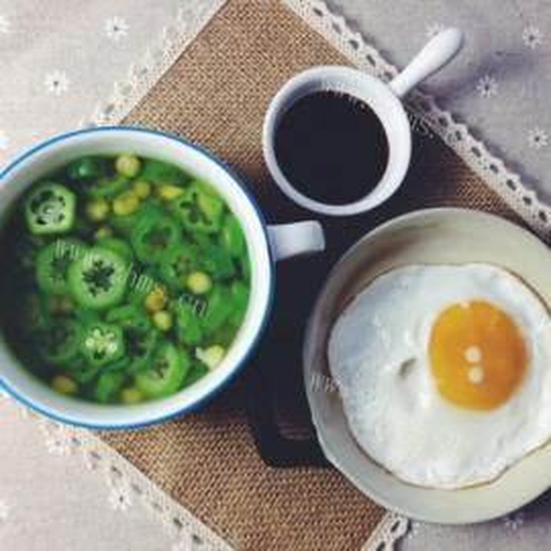 秋葵鸡蛋汤