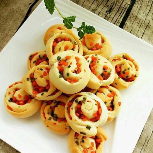 火腿香葱卷