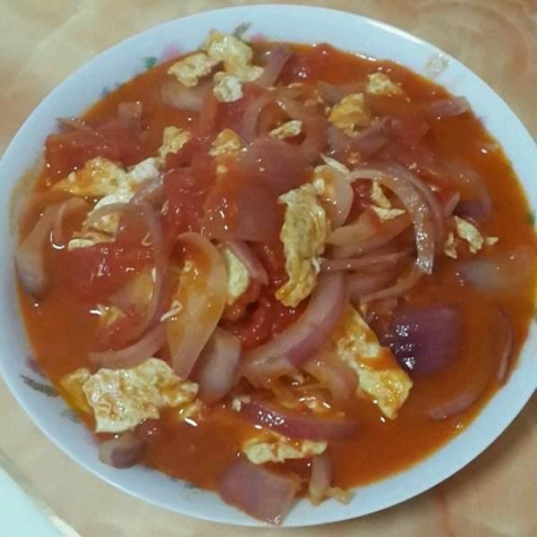 洋葱西红柿炒鸡蛋