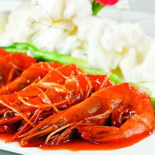 鲜嫩的潜江五七油焖大虾