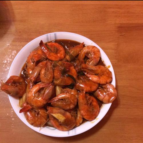 好吃的红烧大虾