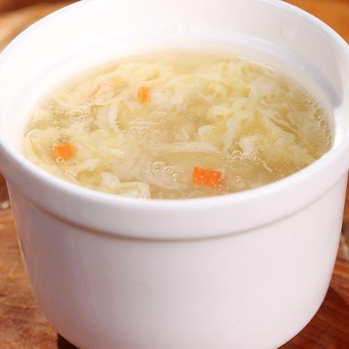 十分诱人的米酒蛋花汤