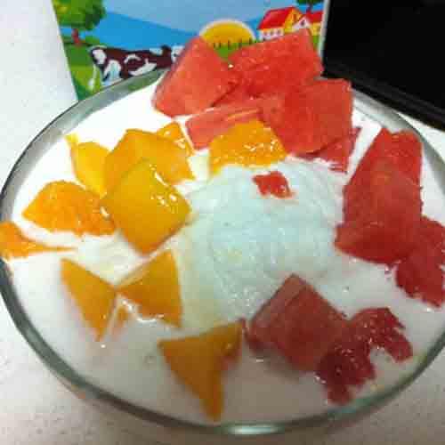 简单的水果沙冰