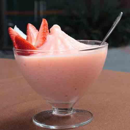 在家做的水果沙冰