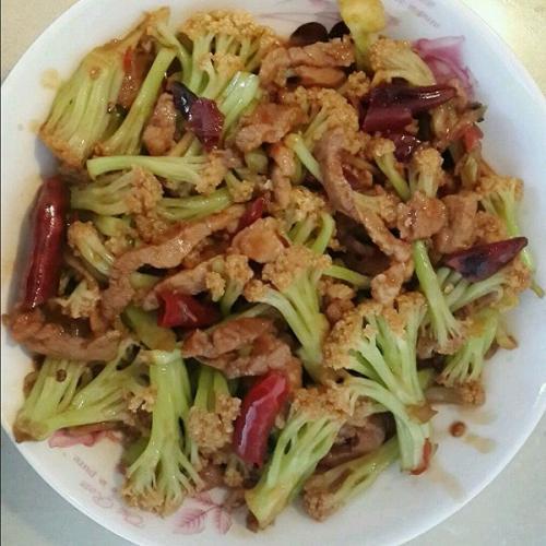 肉炒有机菜花