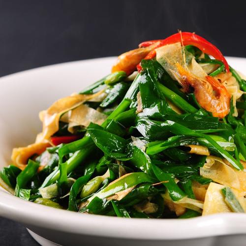 美味健康海兔炒韭菜