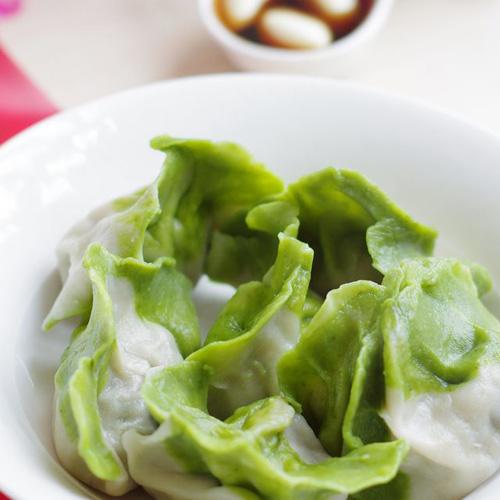 自制猪肉白菜饺子