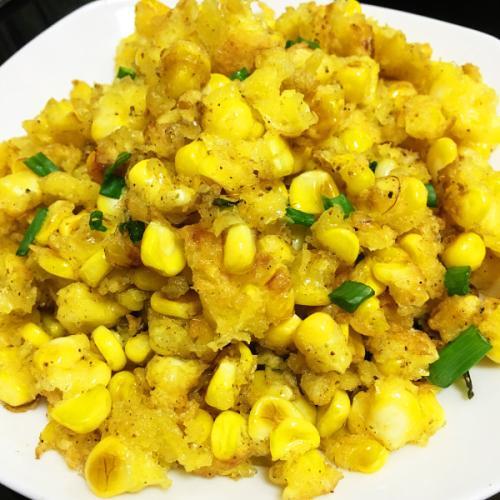 家常菜椒盐玉米的做法