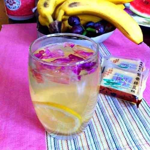 家常玫瑰柠檬茶