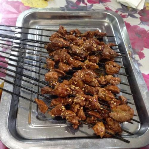 秘制羊肉串的烤法