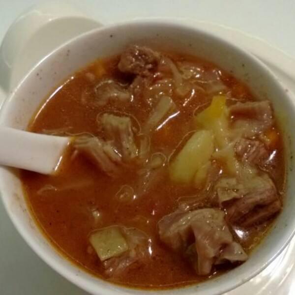 滋补的牛肉罗宋汤
