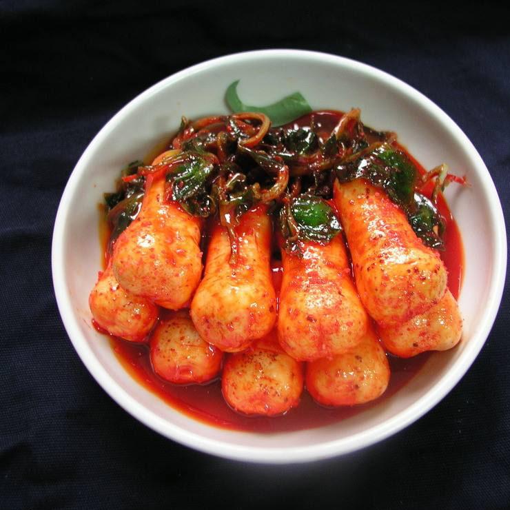 可口的韩国萝卜泡菜