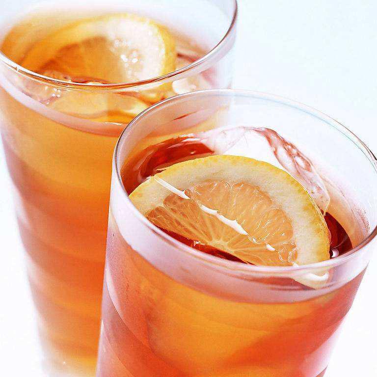 夏日一凉的柠檬红茶