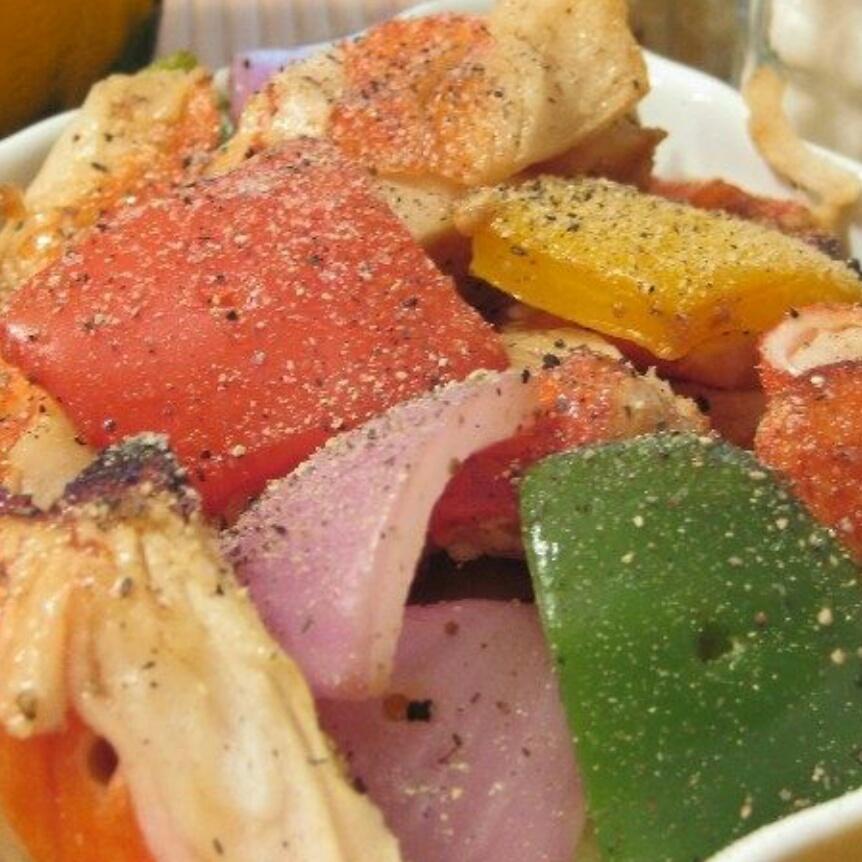烤蟹肉灯笼椒