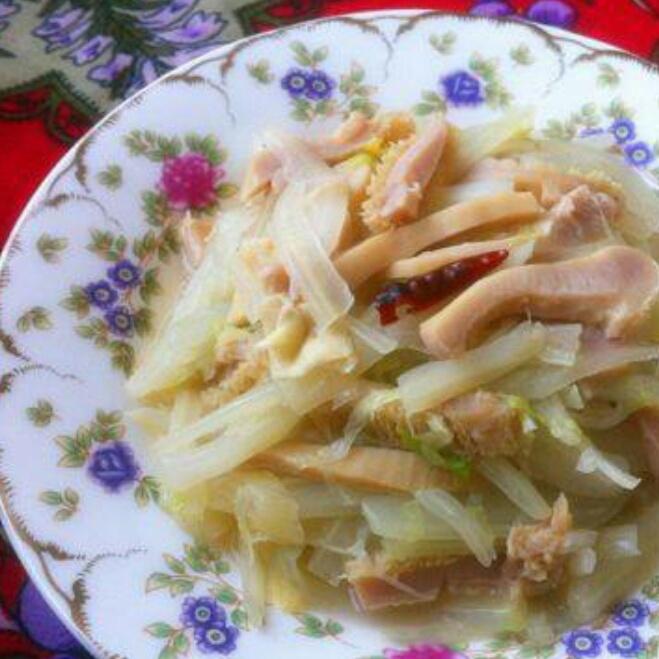 白菜炒牛肚