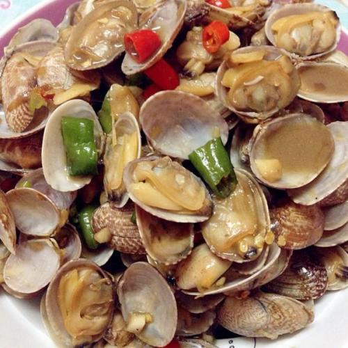香葱蛤蜊肉