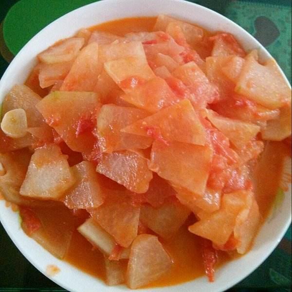 西红柿炒冬瓜