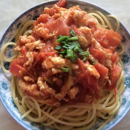 西红柿鸡蛋盖浇面