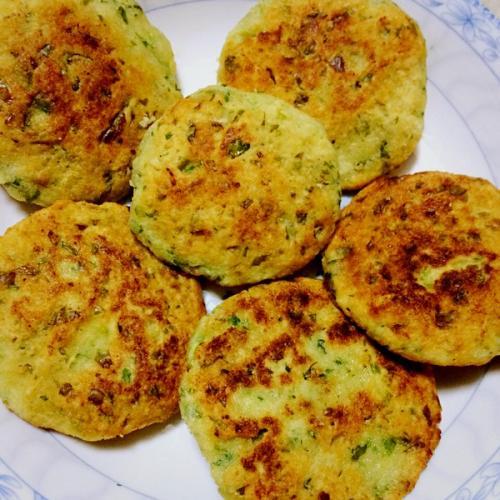 香煎综合豆渣饼