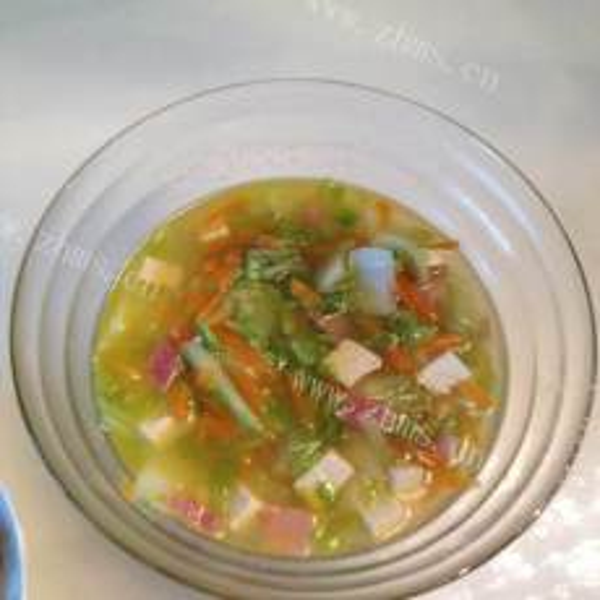 什锦芹菜豆腐