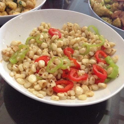 玉米炒青椒