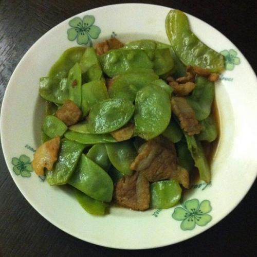 肉片炒扁豆