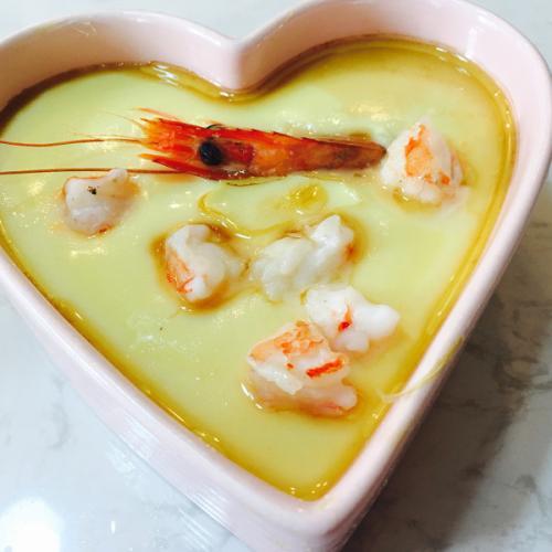 鲜虾蒸水蛋
