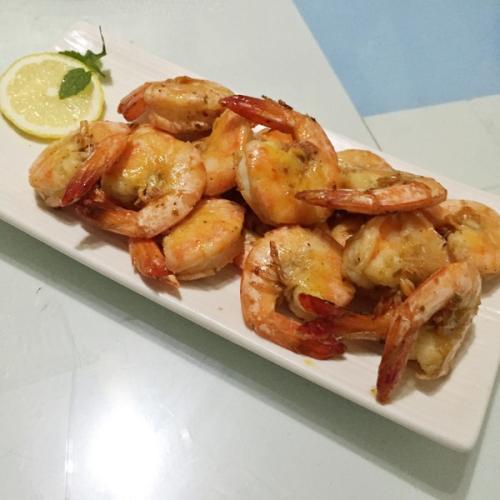 蒜香蒸虾(极其简单)