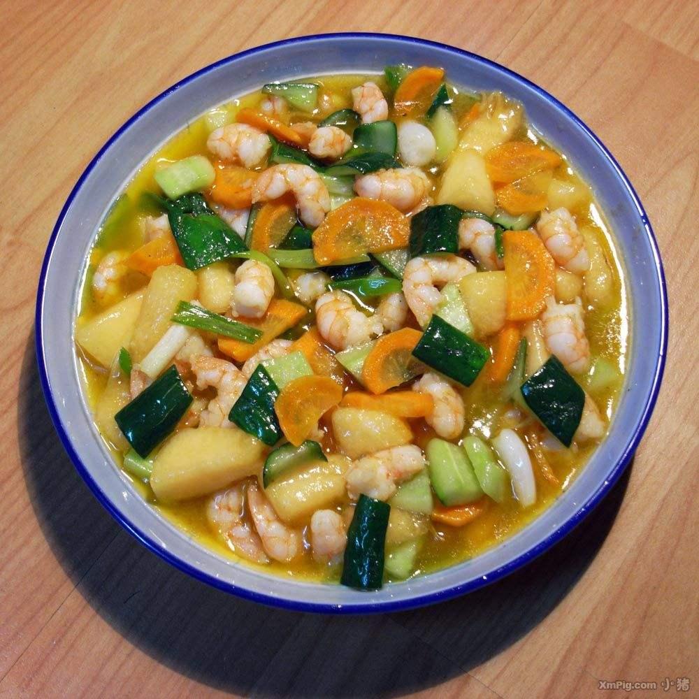 虾仁炒豆腐