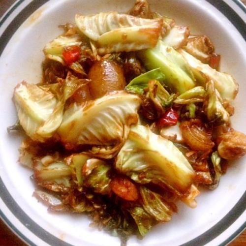 家常菜干锅包菜
