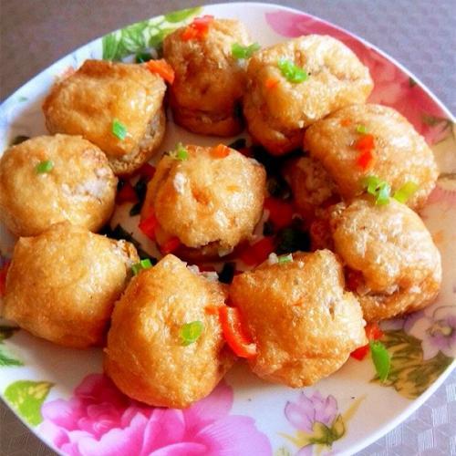 百花酿豆腐