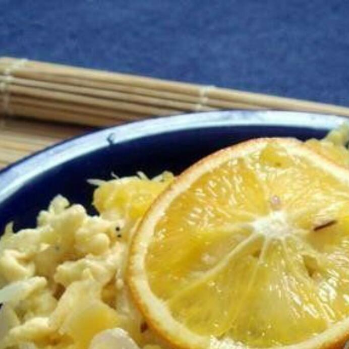 橙香银鱼炒蛋