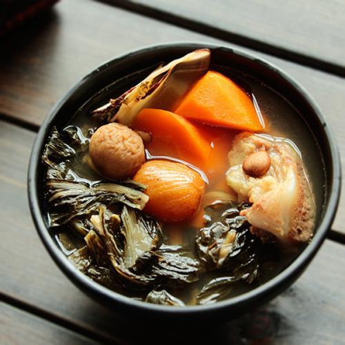 白菜杏仁排骨汤