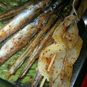 蒜茸烤海鲈片