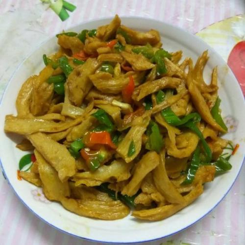 青菜炒面筋