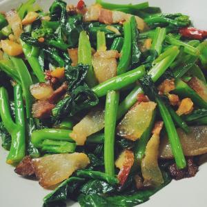 家常菜芥蓝炒肉片