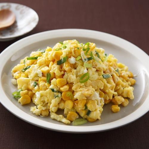 颜值高的果仁玉米炒蛋