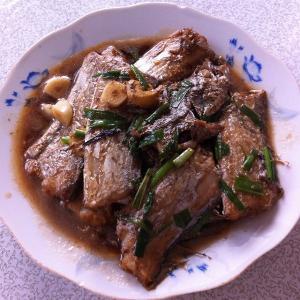 豆干烧带鱼