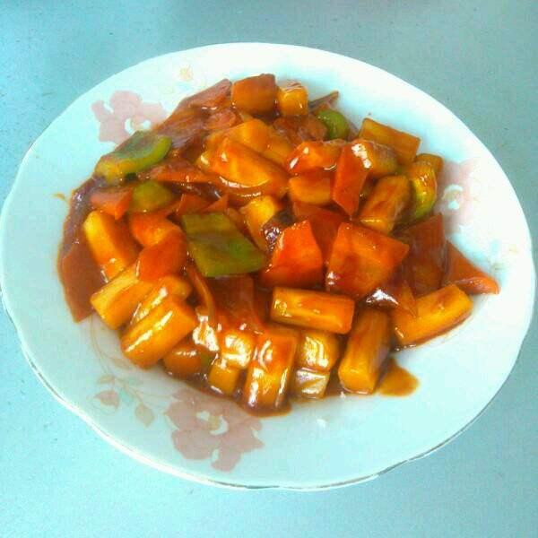 胡萝卜炒年糕
