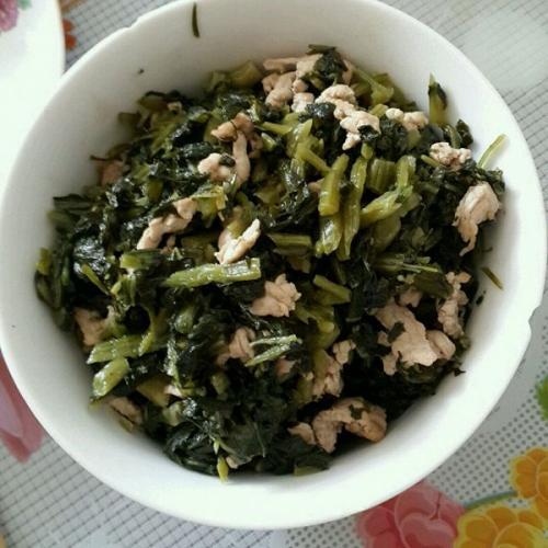 美味野笋雪菜炒肉末