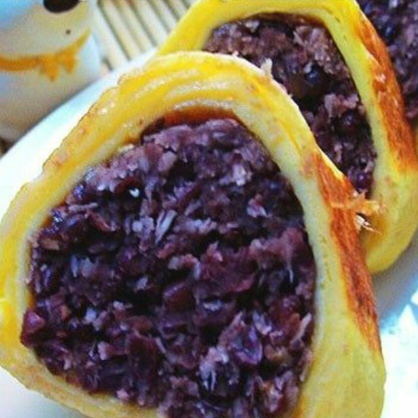 紅豆椰丝厚蛋燒