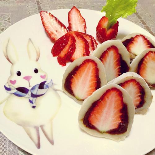 好吃的草莓大福