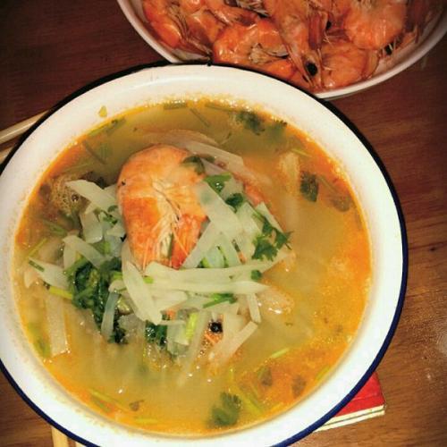 萝卜鲜虾汤