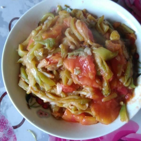西红柿炒茄丝