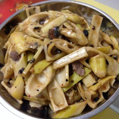 家常菜炒竹笋