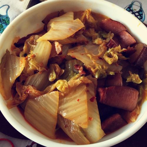 白菜炒腊肉